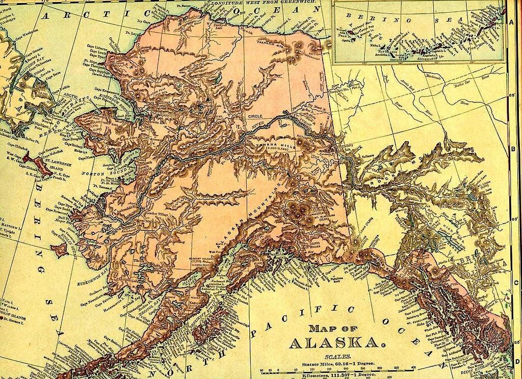 1895 Map of Alaska